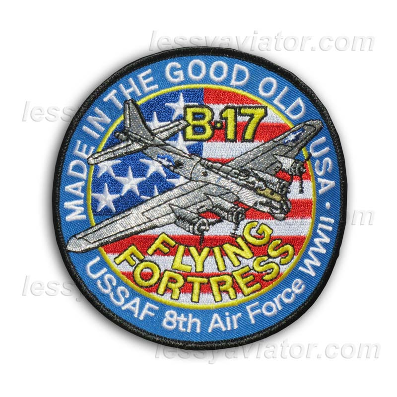 WWII US AAF BOEING B-17 FLYING FORTRESS BOMBER 2-PATCH