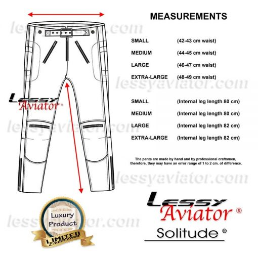 Lessy Aviator Solitude Pants Motorcycle Cafe Racer
